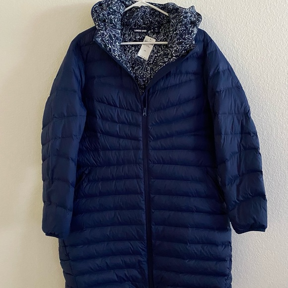Lands' End Jackets & Blazers - Lands End Long puffer jacket SZ XL NWT